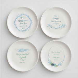 Beautiful, Braver, Stronger, Loved Dessert Plates - DaySpring