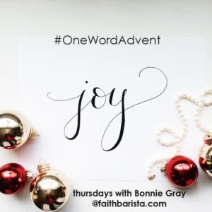 #OneWordAdvent Joy Badge