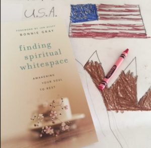 July 4th book - finding spiritual whitespace by bonnie gray